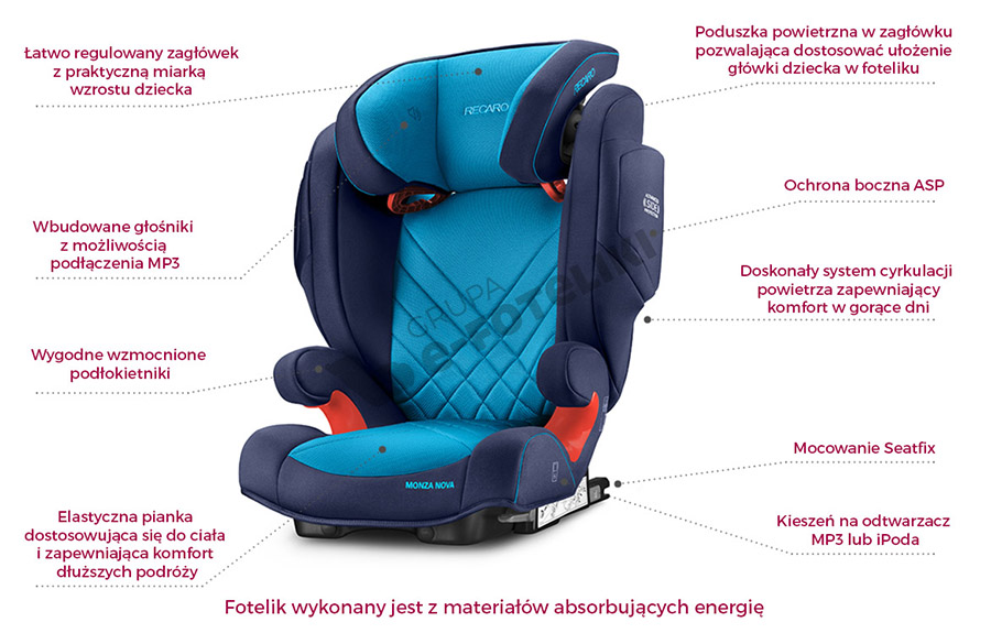recaro monza nova 2 seatfix 2017 od r ki najtaniej e. Black Bedroom Furniture Sets. Home Design Ideas