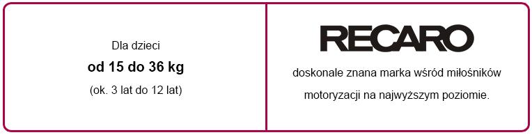 e-foteliki recaro monza nova 2 tabelka informacyjna