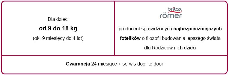 e-foteliki romer trifix tabelka informacyjna
